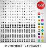 500 arrows. different shapes ... | Shutterstock .eps vector #164960054