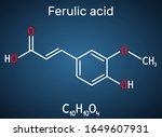 ferulic acid  coniferic acid ... | Shutterstock .eps vector #1649607931