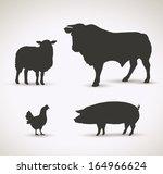 Stock vector domestic animals vector illustration 164966624