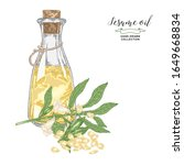 Sesame Oil Hand Drawn. Colorful ...