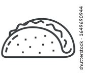 taco line icon on white... | Shutterstock .eps vector #1649690944