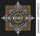 whiskey label for packing.... | Shutterstock .eps vector #1649716111