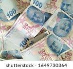 turkish liras. 100 tl turkish... | Shutterstock . vector #1649730364