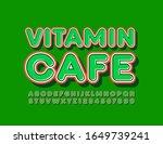 vector stylish logo vitamin... | Shutterstock .eps vector #1649739241