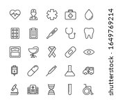 set of medical outline icon... | Shutterstock . vector #1649769214