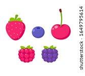 simple cartoon berries drawing  ... | Shutterstock .eps vector #1649795614