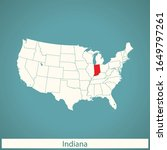 vector map of the indiana | Shutterstock .eps vector #1649797261