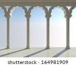 classic interior with arches...   Shutterstock . vector #164981909
