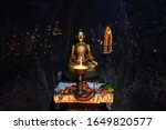 view of buddha statue in... | Shutterstock . vector #1649820577