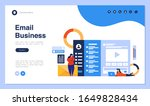 web page design with business... | Shutterstock .eps vector #1649828434