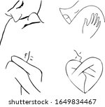 set of black and white drawings ... | Shutterstock .eps vector #1649834467