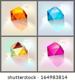 colorful geometric background... | Shutterstock .eps vector #164983814