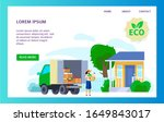 organic food delivery truck ... | Shutterstock .eps vector #1649843017