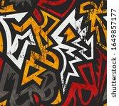grunge ancient seamless pattern ...   Shutterstock .eps vector #1649857177