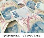 turkish liras. 100 tl turkish... | Shutterstock . vector #1649934751