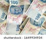 turkish liras. 100 tl turkish... | Shutterstock . vector #1649934934