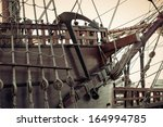 Old Sailship. Vintage Retro...