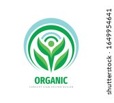 organic product icon. nature... | Shutterstock .eps vector #1649954641