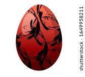 easter egg colorful design...   Shutterstock . vector #1649958211