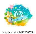 amazing songkran festival...   Shutterstock .eps vector #1649958874