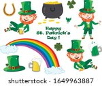 set of st. patrick's day... | Shutterstock .eps vector #1649963887