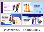 happy young couple doing... | Shutterstock .eps vector #1650008017