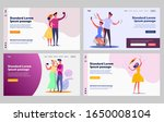 happy tourists set. couples... | Shutterstock .eps vector #1650008104