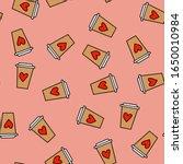Seamless Pattern On A Pink...