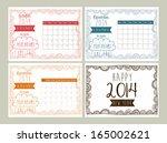 calendar design over gray ... | Shutterstock .eps vector #165002621