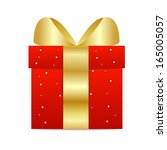 box with a gift on a white... | Shutterstock .eps vector #165005057