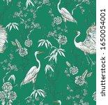 Chinoiserie Crane Birds In...