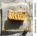 apple pastry top view on white... | Shutterstock . vector #1650061651