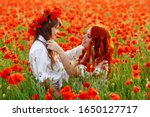 Little Happy Girl With Redhead...