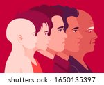 the head of a man of different... | Shutterstock .eps vector #1650135397