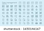 data management outline iconset....