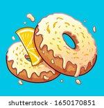 vector lemon donuts. cartoon... | Shutterstock .eps vector #1650170851