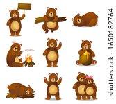 cute funny cartoon set friendly ... | Shutterstock .eps vector #1650182764
