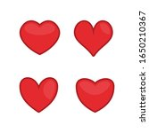 red hearts icons set. love ... | Shutterstock .eps vector #1650210367
