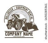 bulldozer logo design template... | Shutterstock .eps vector #1650285361