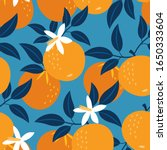 orange pattern. vector seamless ... | Shutterstock .eps vector #1650333604