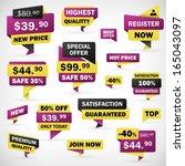 set business offer price... | Shutterstock .eps vector #165043097