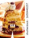 Small photo of Piece of Frankfurter Kranz (Frankfurt Crown) cake