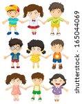 illustration of the kids... | Shutterstock .eps vector #165044069