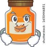 cool peach jam mascot character ... | Shutterstock .eps vector #1650446851