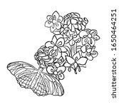vector illustration flower with ...   Shutterstock .eps vector #1650464251