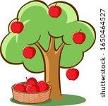 apple tree on white background...   Shutterstock .eps vector #1650464527
