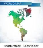 western hemisphere globe.... | Shutterstock .eps vector #165046529