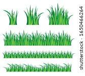 green grass set isolated on... | Shutterstock .eps vector #1650466264