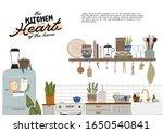 stylish scandinavian kitchen...   Shutterstock .eps vector #1650540841