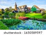 River in summer village....